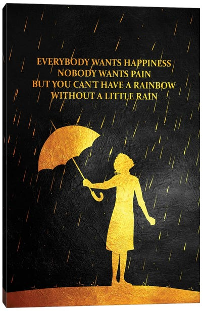 No Rain No Rainbow Canvas Art Print