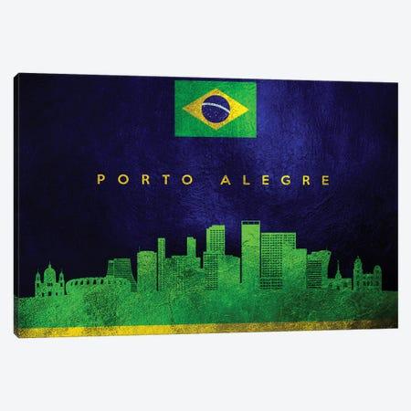 Porto Alegre Brazil Skyline Canvas Print #ABV104} by Adrian Baldovino Art Print