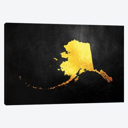 Alaska Gold Map Canvas Print #ABV1052} by Adrian Baldovino Canvas Art