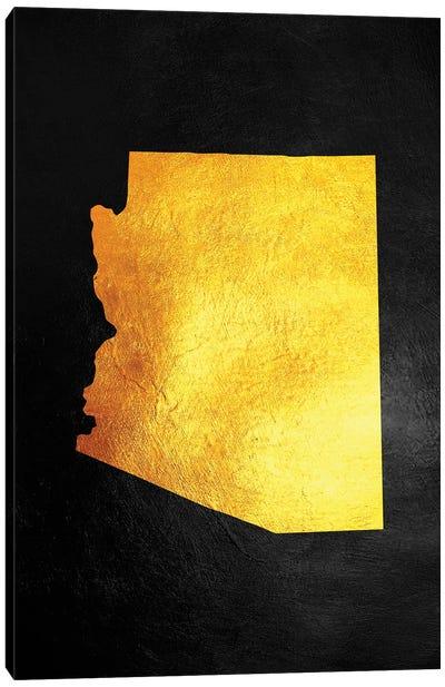 Arizona Gold Map Canvas Art Print