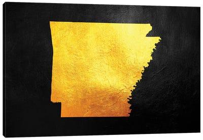 Arkansas Gold Map Canvas Art Print