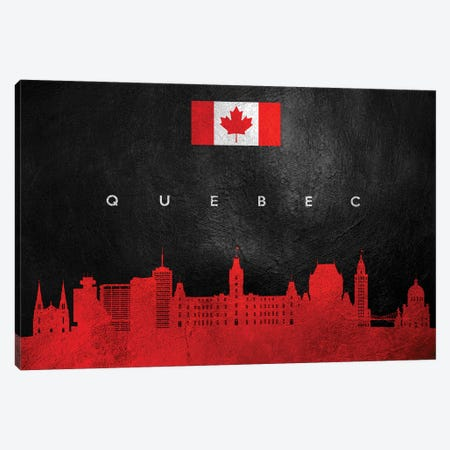Quebec Canada Skyline Canvas Print #ABV105} by Adrian Baldovino Canvas Print