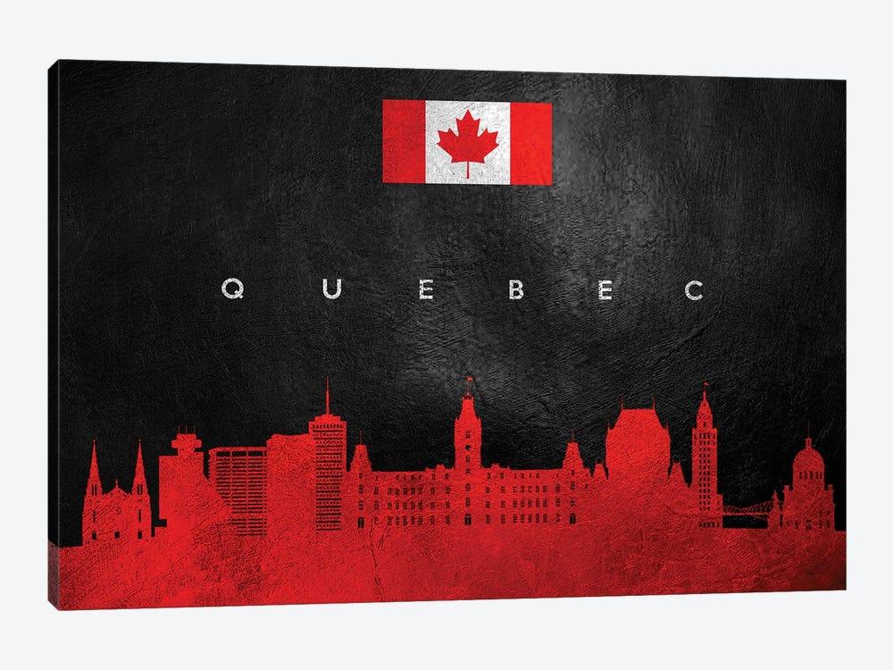 Quebec Canada Skyline by Adrian Baldovino 1-piece Canvas Art