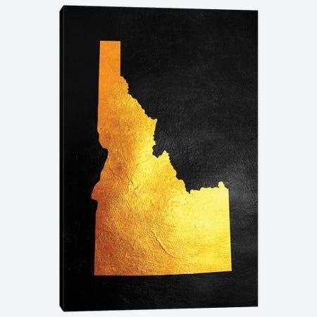 Idaho Gold Map Canvas Print #ABV1062} by Adrian Baldovino Canvas Art Print