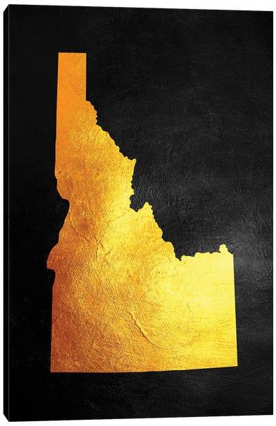 Idaho Gold Map Canvas Art Print
