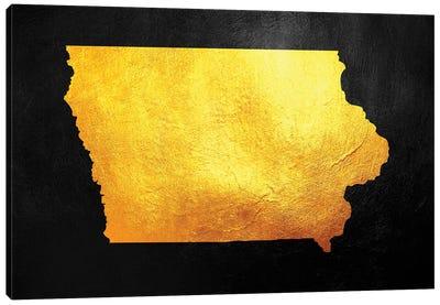 Iowa Gold Map Canvas Art Print