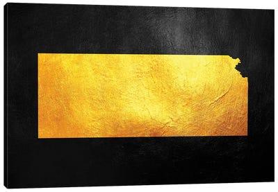 Kansas Gold Map Canvas Art Print