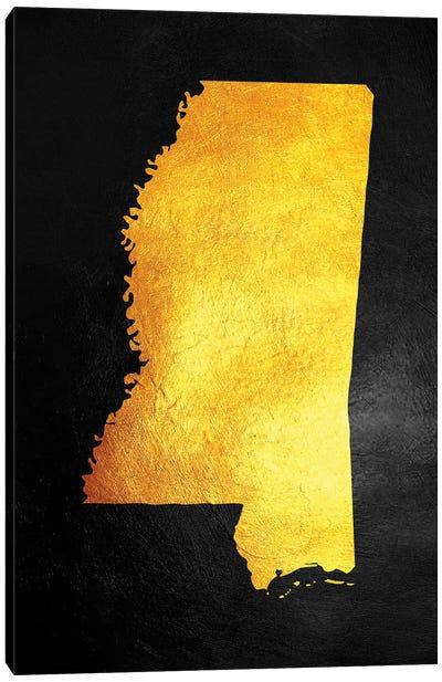 Mississippi Gold Map Canvas Art Print