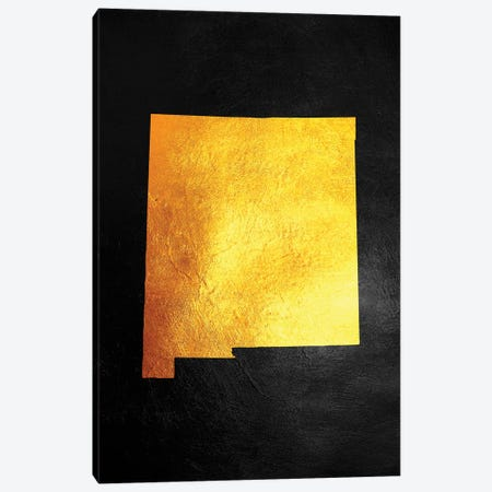 New Mexico Gold Map Canvas Print #ABV1081} by Adrian Baldovino Canvas Print
