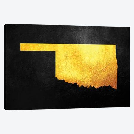 Oklahoma Gold Map Canvas Print #ABV1086} by Adrian Baldovino Canvas Art