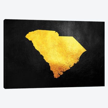 South Carolina Gold Map Canvas Print #ABV1090} by Adrian Baldovino Canvas Artwork
