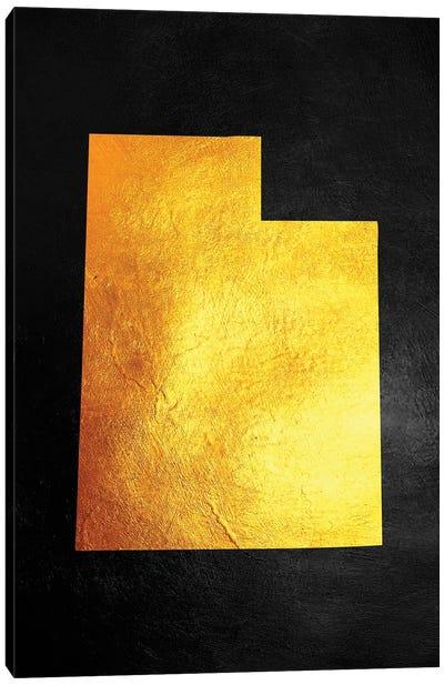 Utah Gold Map Canvas Art Print
