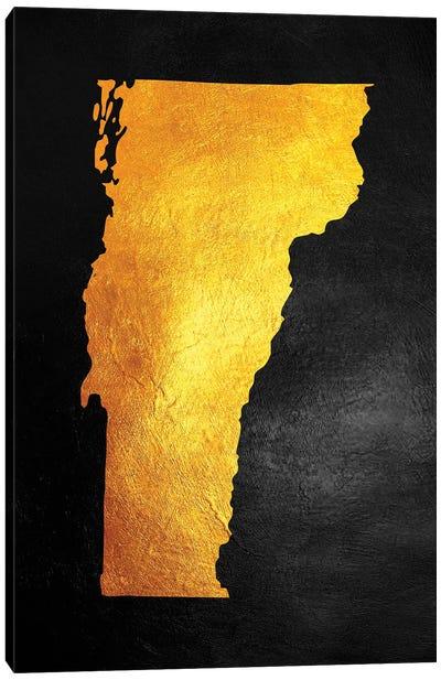 Vermont Gold Map Canvas Art Print