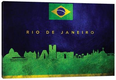 Rio De Janeiro Brazil Skyline II Canvas Art Print