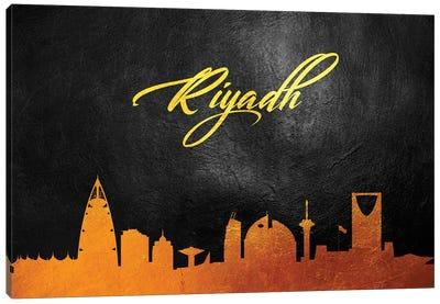 Riyadh Saudi Arabia Gold Skyline Canvas Art Print