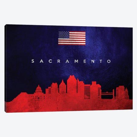 Sacramento California Skyline Canvas Print #ABV113} by Adrian Baldovino Art Print