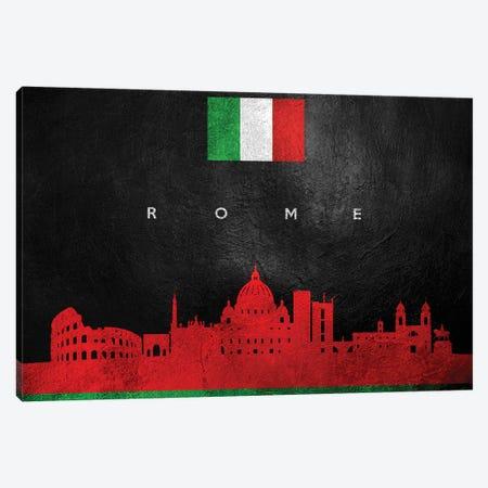 Rome Italy Skyline Canvas Print #ABV114} by Adrian Baldovino Canvas Artwork