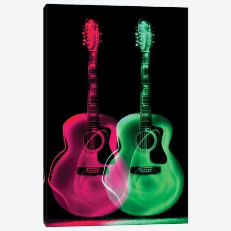 Guitar Neon II Canvas Print #ABV1157} by Adrian Baldovino Canvas Wall Art