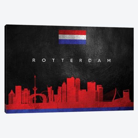 Rotterdam Netherlands Skyline Canvas Print #ABV115} by Adrian Baldovino Canvas Artwork