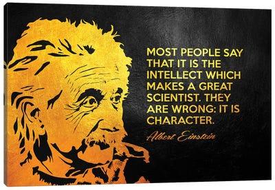Albert Einstein Character Canvas Art Print