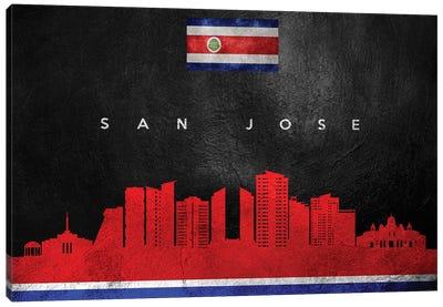 San Jose Costa Rica Skyline Canvas Art Print