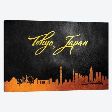 Tokyo Japan Gold Skyline II Canvas Print #ABV129} by Adrian Baldovino Canvas Art
