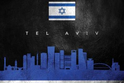 Tel Aviv Israel Skyline Impressionistic Splash Fine Art Print