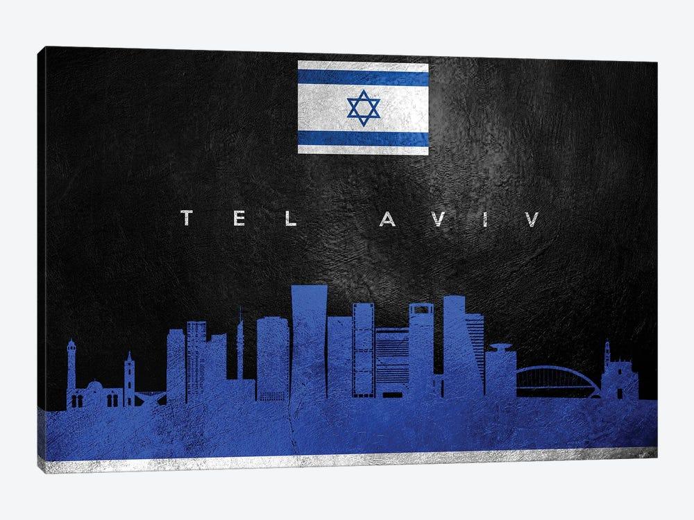 Tel Aviv Israel Skyline by Adrian Baldovino 1-piece Canvas Artwork