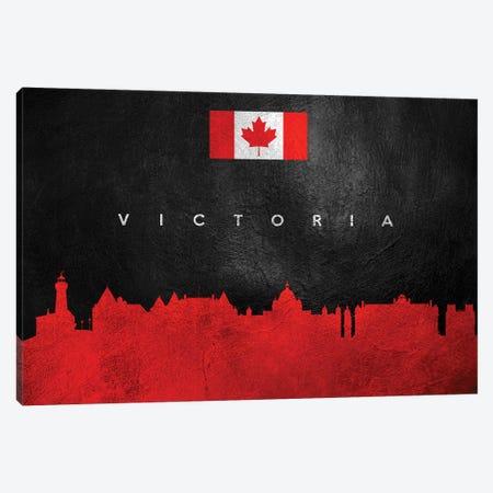 Victoria Canada Skyline Canvas Print #ABV133} by Adrian Baldovino Art Print