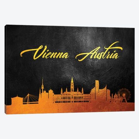 Vienna Austria Gold Skyline Canvas Print #ABV134} by Adrian Baldovino Canvas Artwork