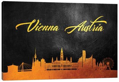 Vienna Austria Gold Skyline Canvas Art Print