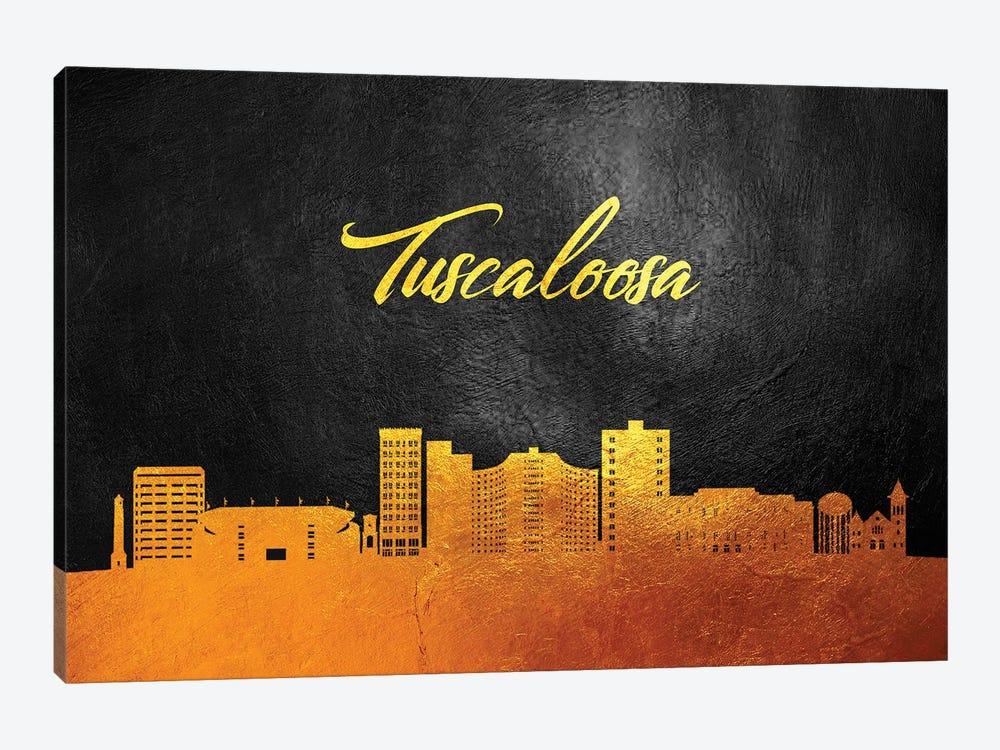 Tuscaloosa Alabama Gold Skyline by Adrian Baldovino 1-piece Canvas Print