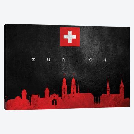 Zurich Switzerland Skyline Canvas Print #ABV137} by Adrian Baldovino Canvas Wall Art
