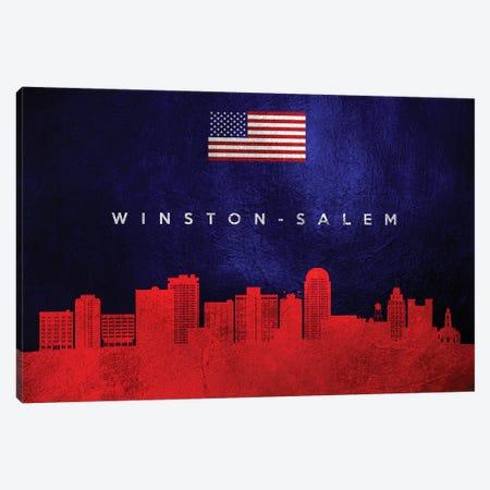 Winston-Salem North Carolina Skyline Canvas Print #ABV139} by Adrian Baldovino Canvas Print