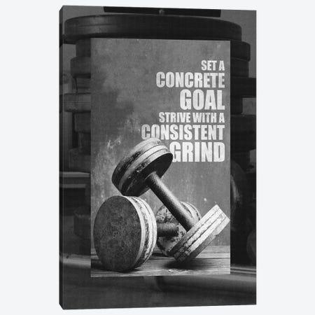 Motivational Gym Quote Canvas Print #ABV143} by Adrian Baldovino Canvas Artwork