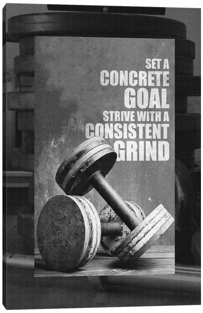 Motivational Gym Quote Canvas Art Print