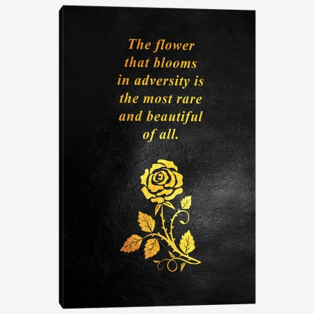 Bloom In Adversity Motivational Quote Canvas Print #ABV146} by Adrian Baldovino Canvas Art Print