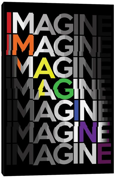 Imagine Canvas Art Print
