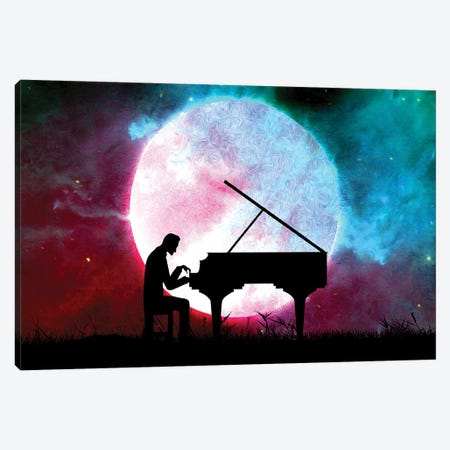 Midnight Sonata Canvas Print #ABV148} by Adrian Baldovino Canvas Wall Art