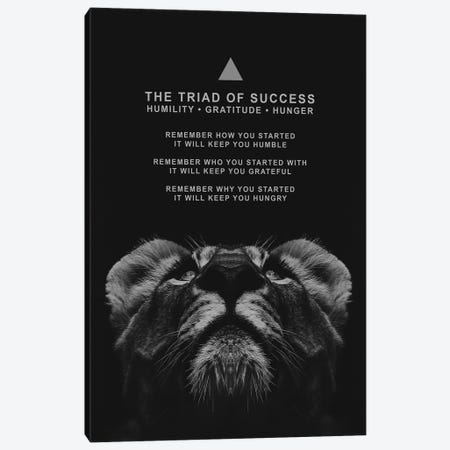 The Triad Of Success Canvas Print #ABV150} by Adrian Baldovino Canvas Print