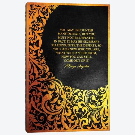 Maya Angelou Motivational Quote Canvas Print #ABV153} by Adrian Baldovino Art Print