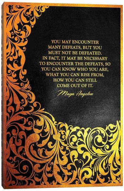 Maya Angelou Motivational Quote Canvas Art Print