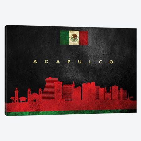Acapulco Mexico Skyline Canvas Print #ABV154} by Adrian Baldovino Canvas Artwork