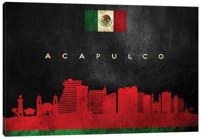 Acapulco Mexico Skyline Canvas Art Print