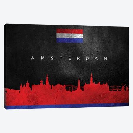 Amsterdam Netherlands Skyline Canvas Print #ABV155} by Adrian Baldovino Canvas Art