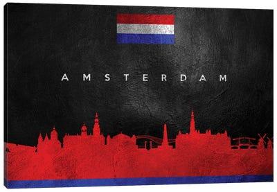 Amsterdam Netherlands Skyline Canvas Art Print