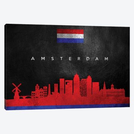 Amsterdam Netherlands Skyline II Canvas Print #ABV156} by Adrian Baldovino Canvas Artwork