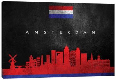 Amsterdam Netherlands Skyline II Canvas Art Print