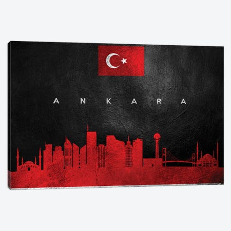 Ankara Turkey Skyline Canvas Print #ABV157} by Adrian Baldovino Canvas Art