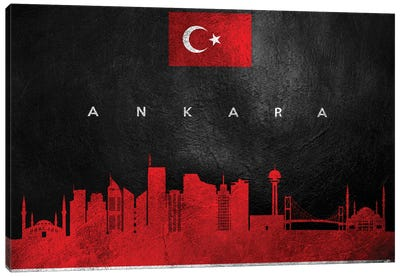 Ankara Turkey Skyline Canvas Art Print